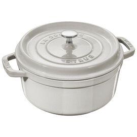 Staub Cast iron, 5.55-qt-/-26-cm round Cocotte, White Truffle