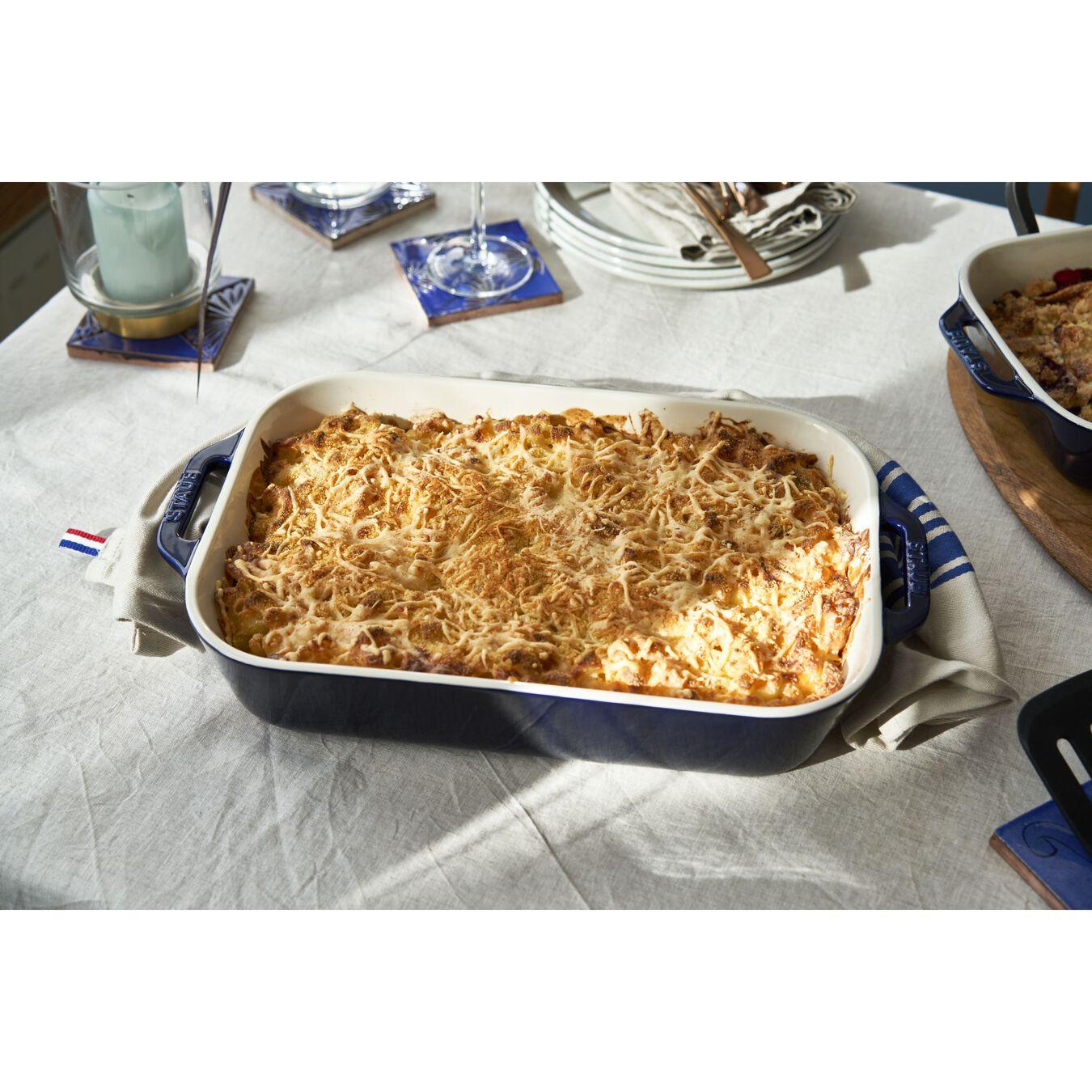 9-inch, rectangular, Baking Dish, dark blue,,large 2
