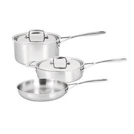 Demeyere Essential 5, 5 Piece 18/10 Stainless Steel Cookware set