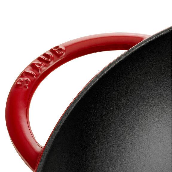 Wok Tava Cam Kapaklı, 46 cm x 37 cm | Yuvarlak | Sıvı Cam | Kiraz,,large 3