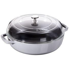 Staub Cast Iron, 11-inch Enamel Saute pan with glass lid