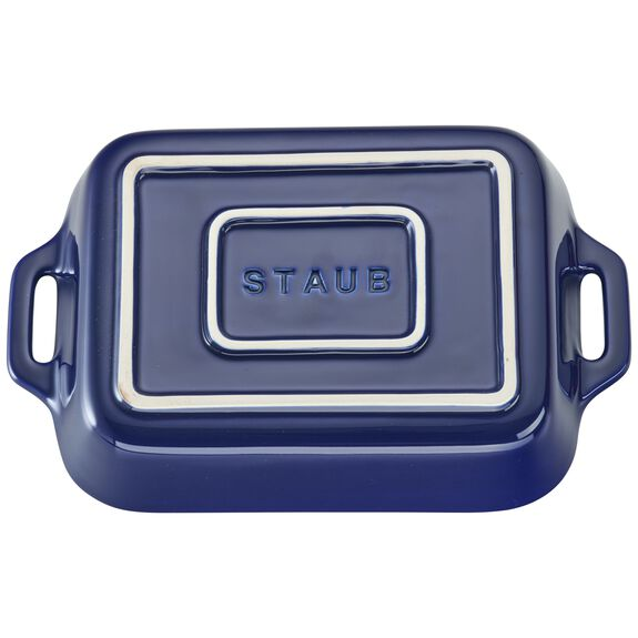 Ceramic Special shape bakeware, Dark Blue,,large