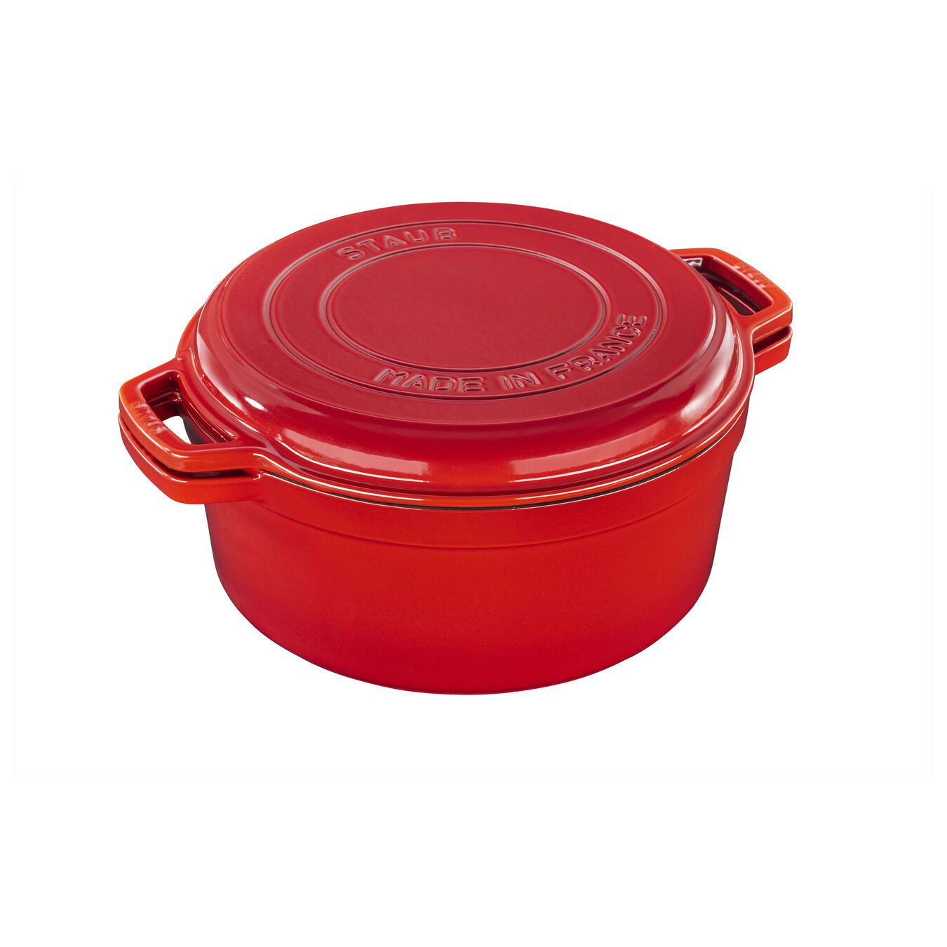 6.5 qt, round, Cocotte, cherry - Visual Imperfections,,large 1