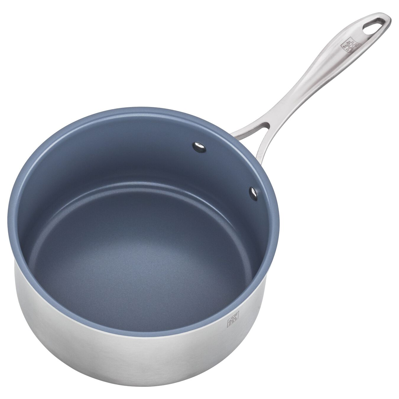 3-ply 3-qt Stainless Steel Ceramic Nonstick Saucepan,,large 3