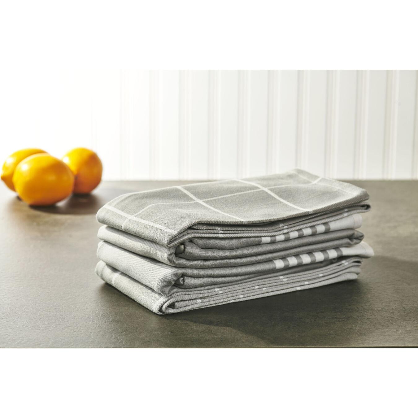 4-pc Kitchen Towel Set - Grey,,large 5