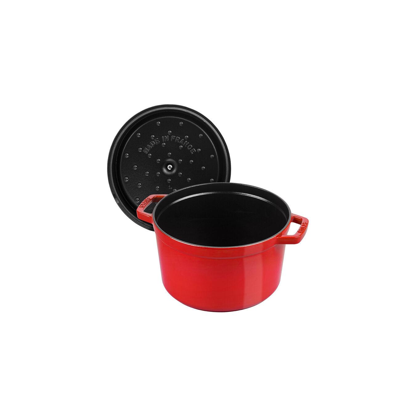 4.8 l Cast iron round Cocotte, cherry,,large 7