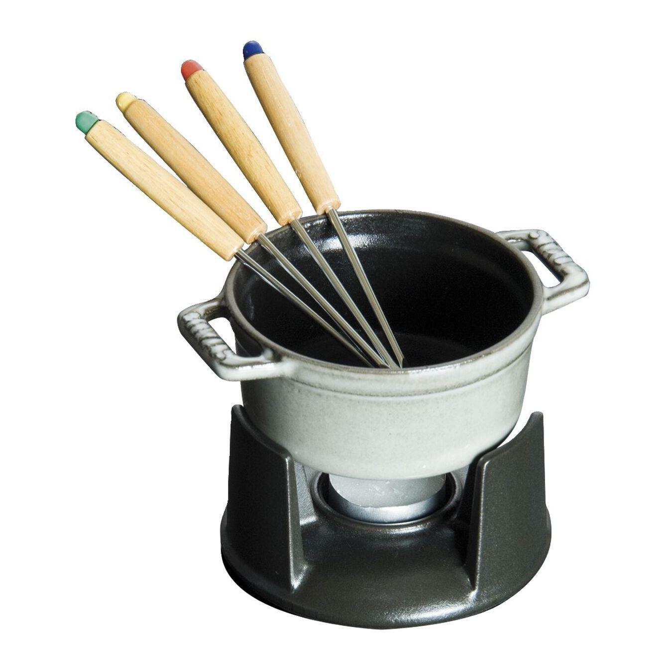 Service à fondue 10 cm, Gris graphite,,large 1
