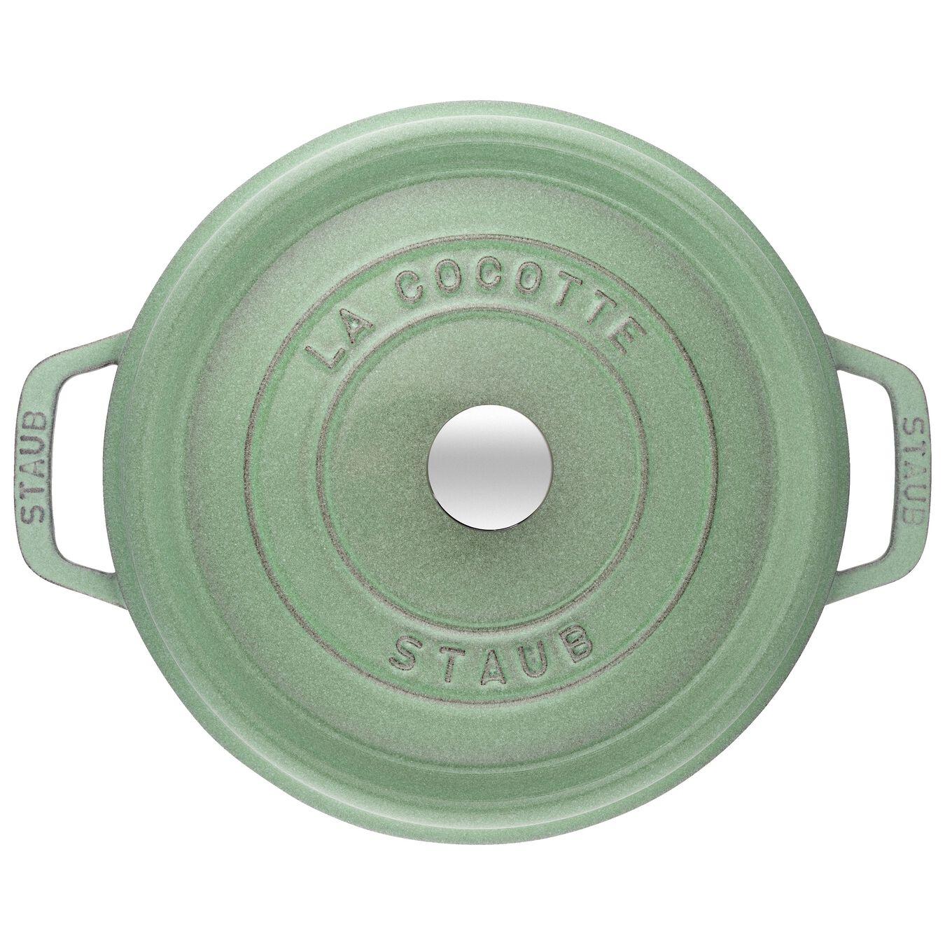 Cocotte 28 cm, rund, Salbeigrün, Gusseisen,,large 5