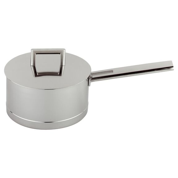 1-qt Stainless steel Sauce pan, Silver,,large