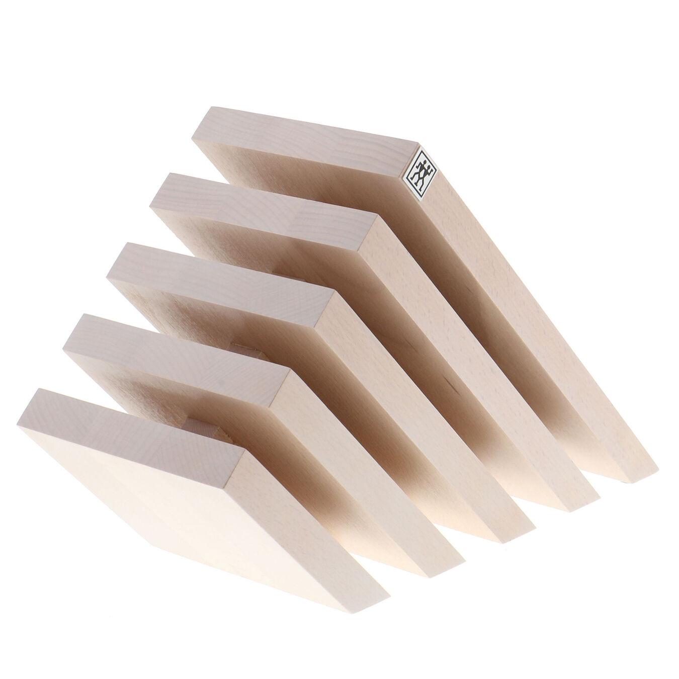 Slanted Magnetic Knife Block - White-Colored Beechwood,,large 1