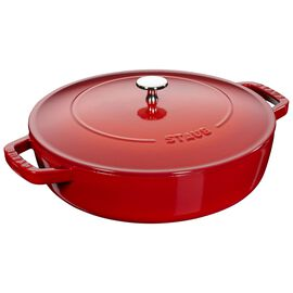 Staub Cast Iron, 11-inch, Saute pan Chistera, cherry - Visual Imperfections