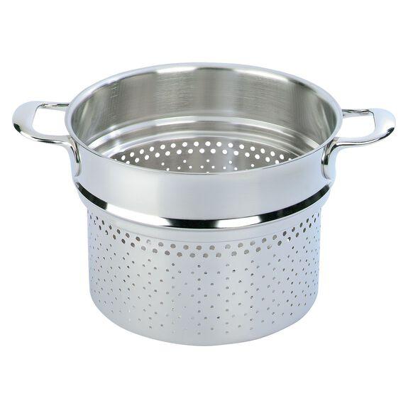 8-qt Stainless Steel Pasta Insert (Fits 8.5-qt Stock Pot),,large