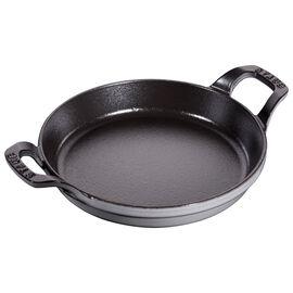 Staub Cast Iron, 7.5-inch Round Gratin Baking Dish - Graphite Grey