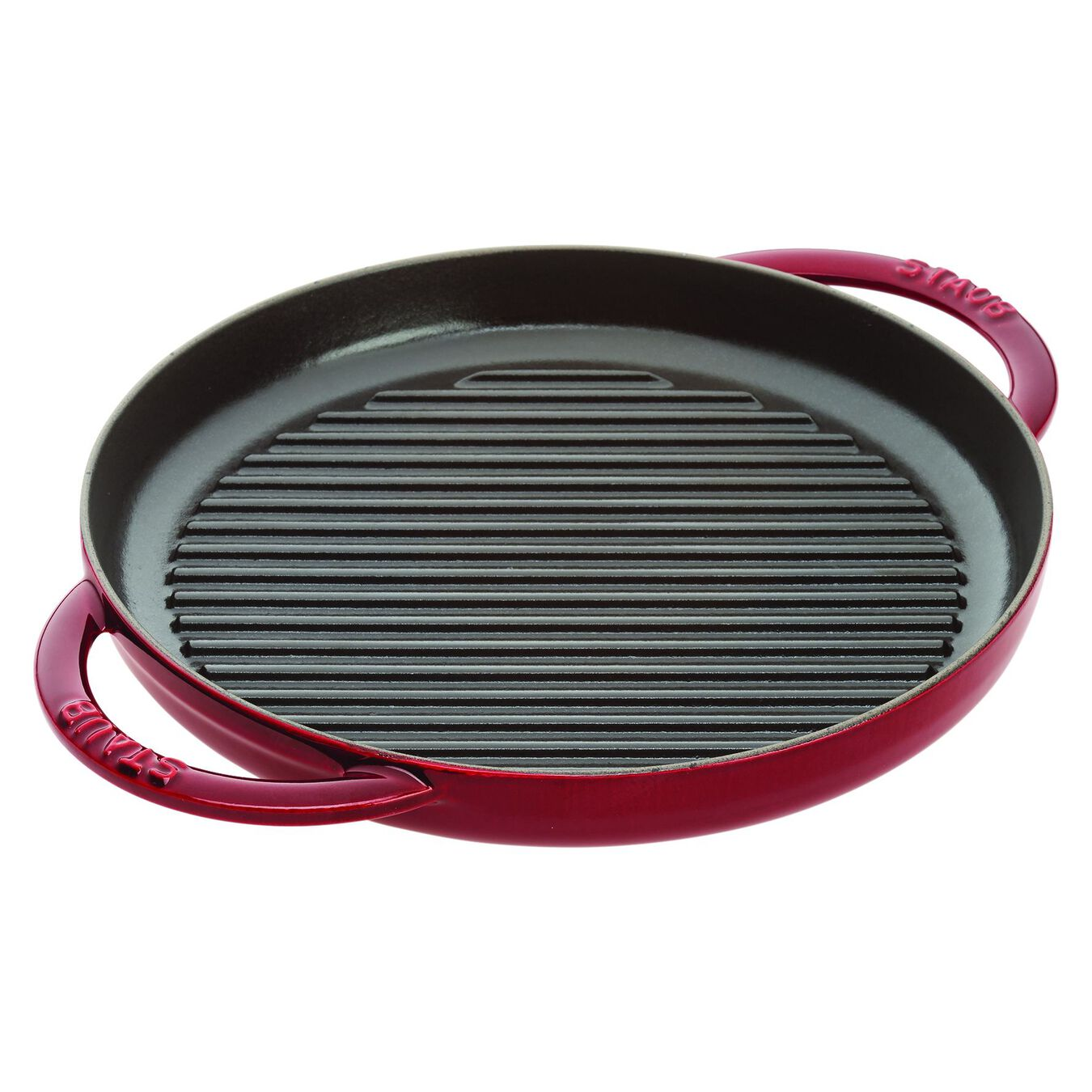10-inch, Round Double Handle Pure Grill, grenadine,,large 1