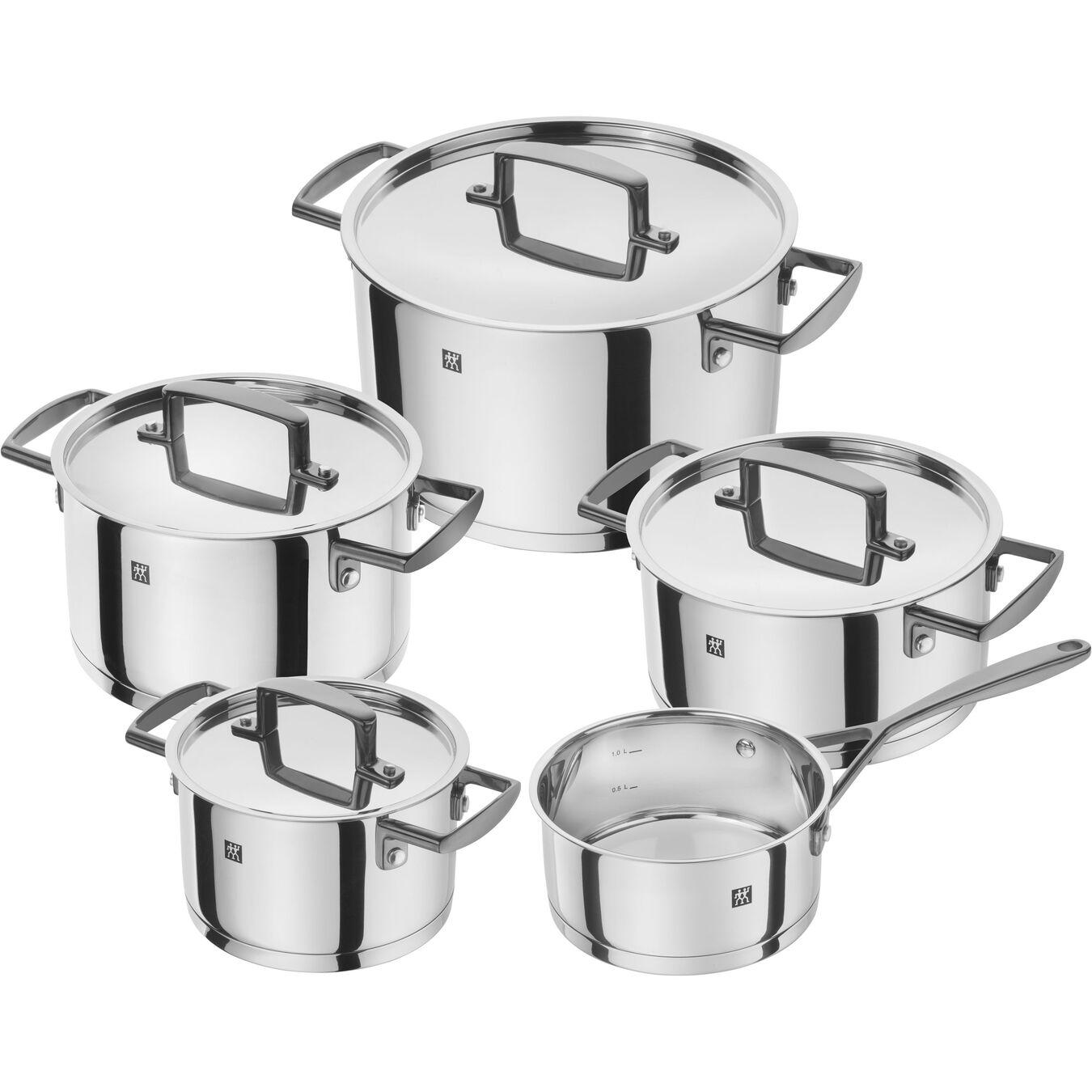 Ensemble de casseroles et poêles 5-pcs, Inox 18/10,,large 1