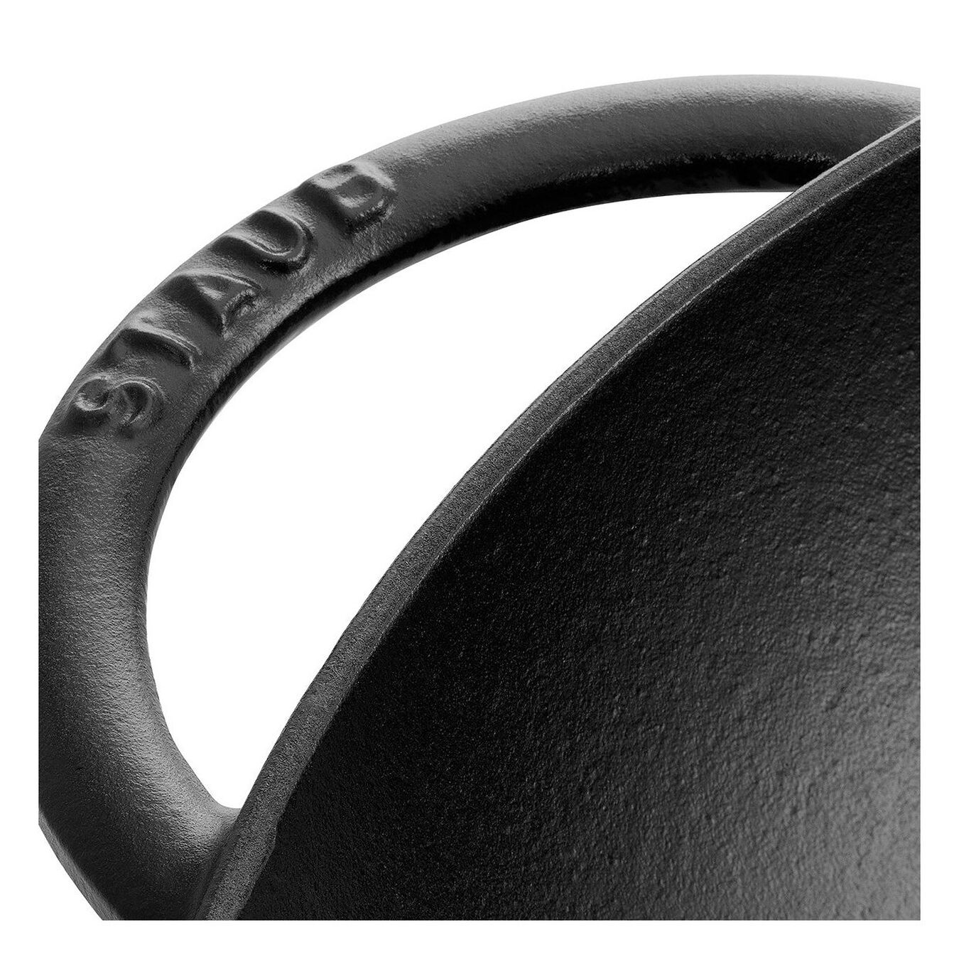 Wok con coperchio in vetro rotondo - 37 cm, nero,,large 2