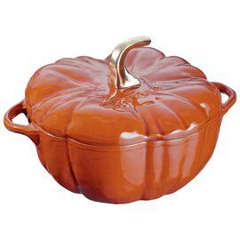 Staub Cast Iron, 3.5-qt Pumpkin Cocotte, Burnt Orange