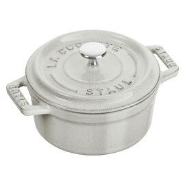 Staub Cast iron, 1-cm-/-4-inch round Mini Cocotte, White Truffle
