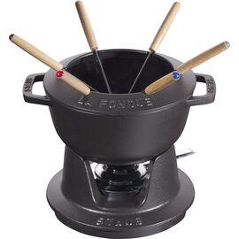 Staub La fondue, Service à fondue 18 cm, Noir
