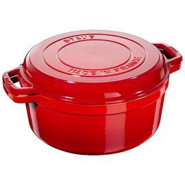 Staub Cast iron, 28-cm-/-11-inch round Braise + Grill, Cherry