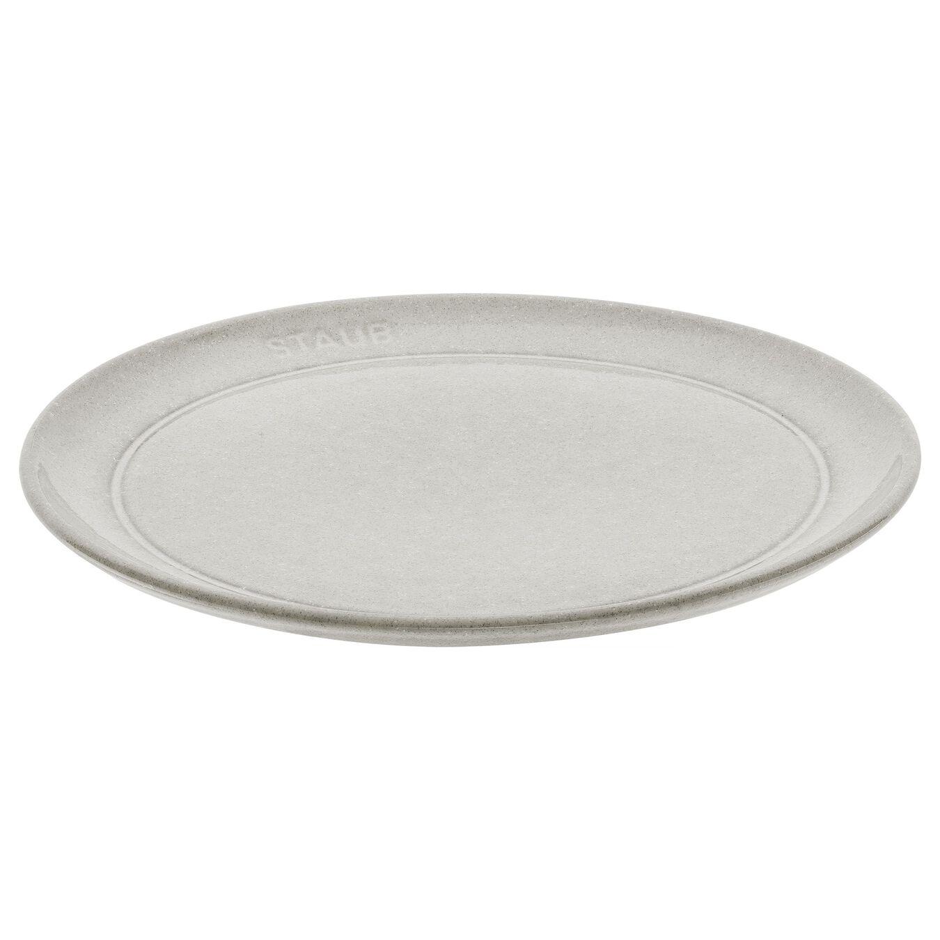 Piatto piano rotondo - 20 cm, tartufo bianco,,large 1