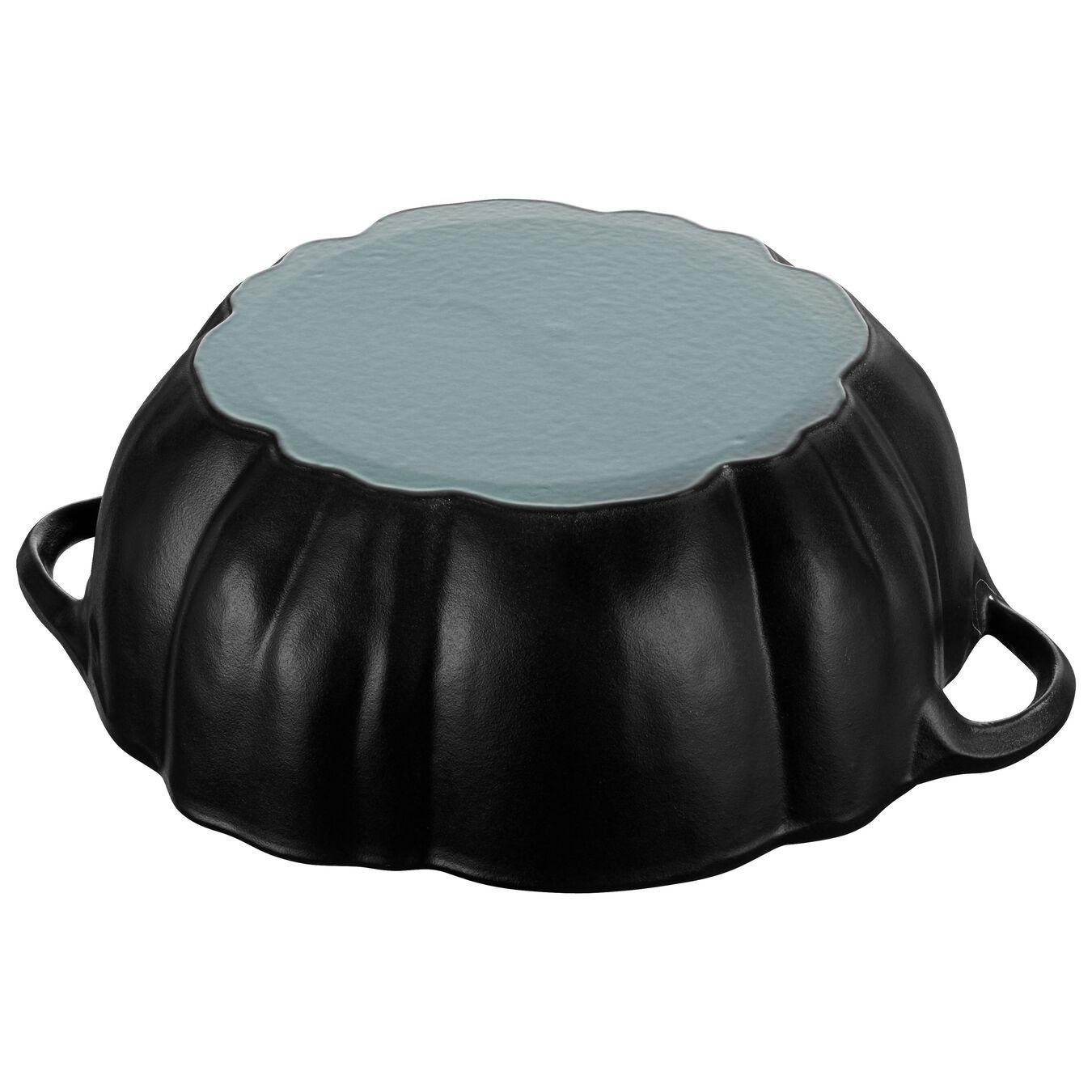 3.75 qt, pumpkin, Cocotte, Black Matte,,large 6