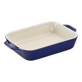Staub Ceramics, 8-inch, rectangular, Special shape bakeware, dark blue