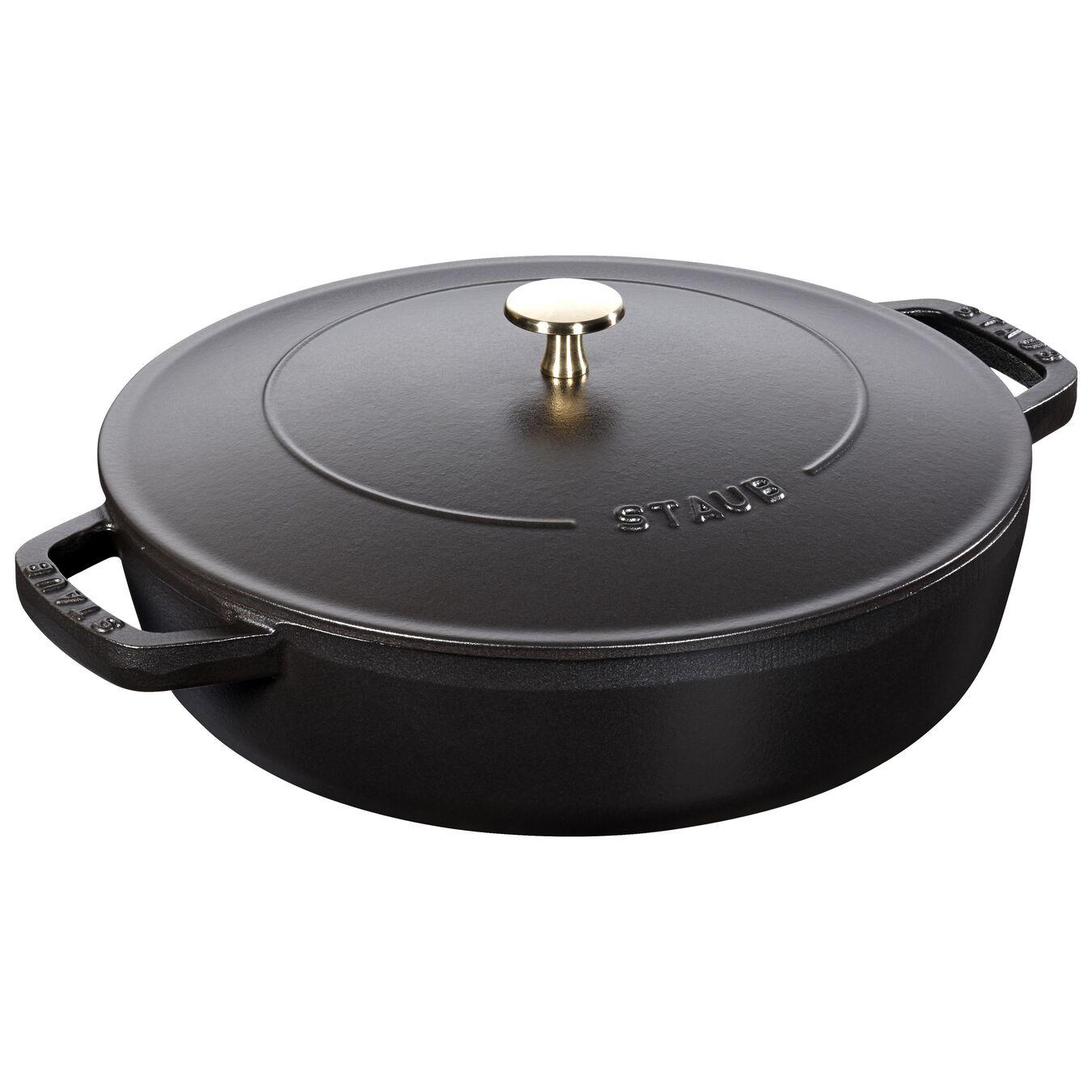 3,75 l Cast iron round Sauteuse Chistera, black,,large 1