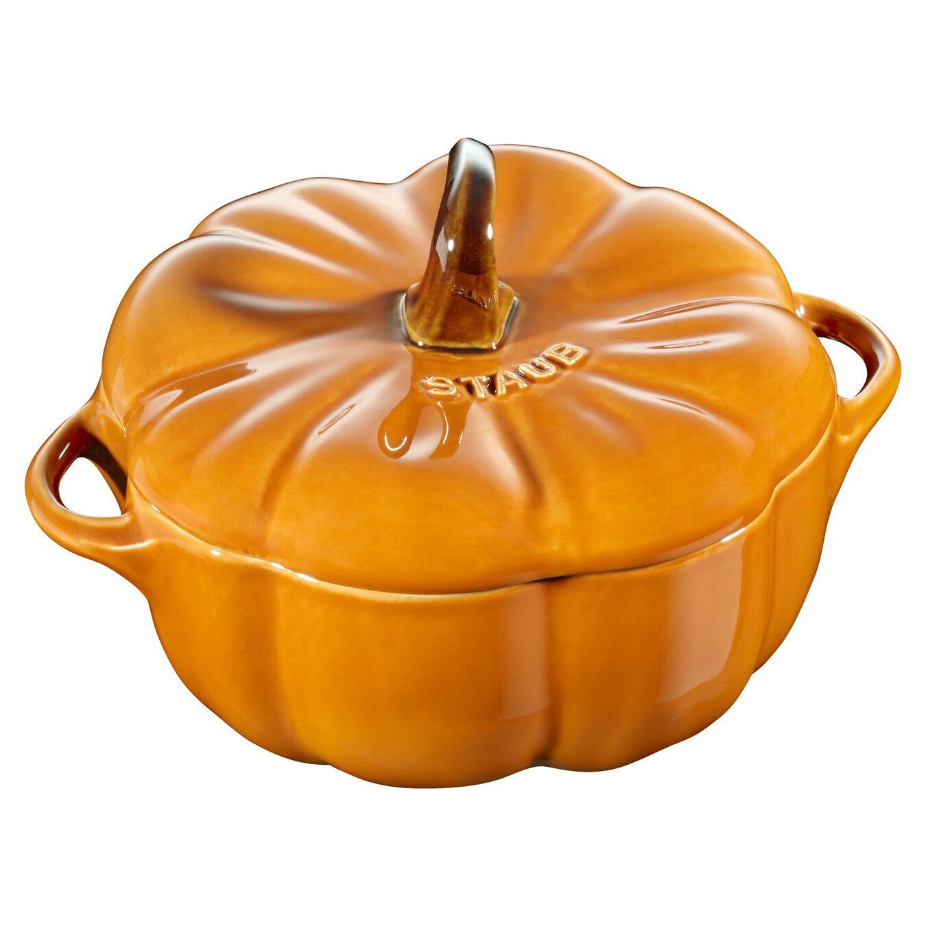 0.5 qt, pumpkin, Cocotte, burnt orange,,large 1