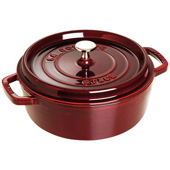 4-qt round Cocotte shallow, Grenadine,,large 2