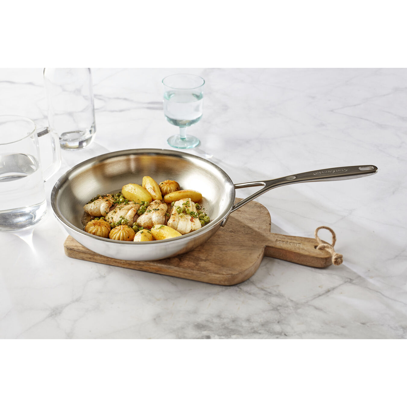 9.5-inch, 18/10 Stainless Steel, Frying pan,,large 2