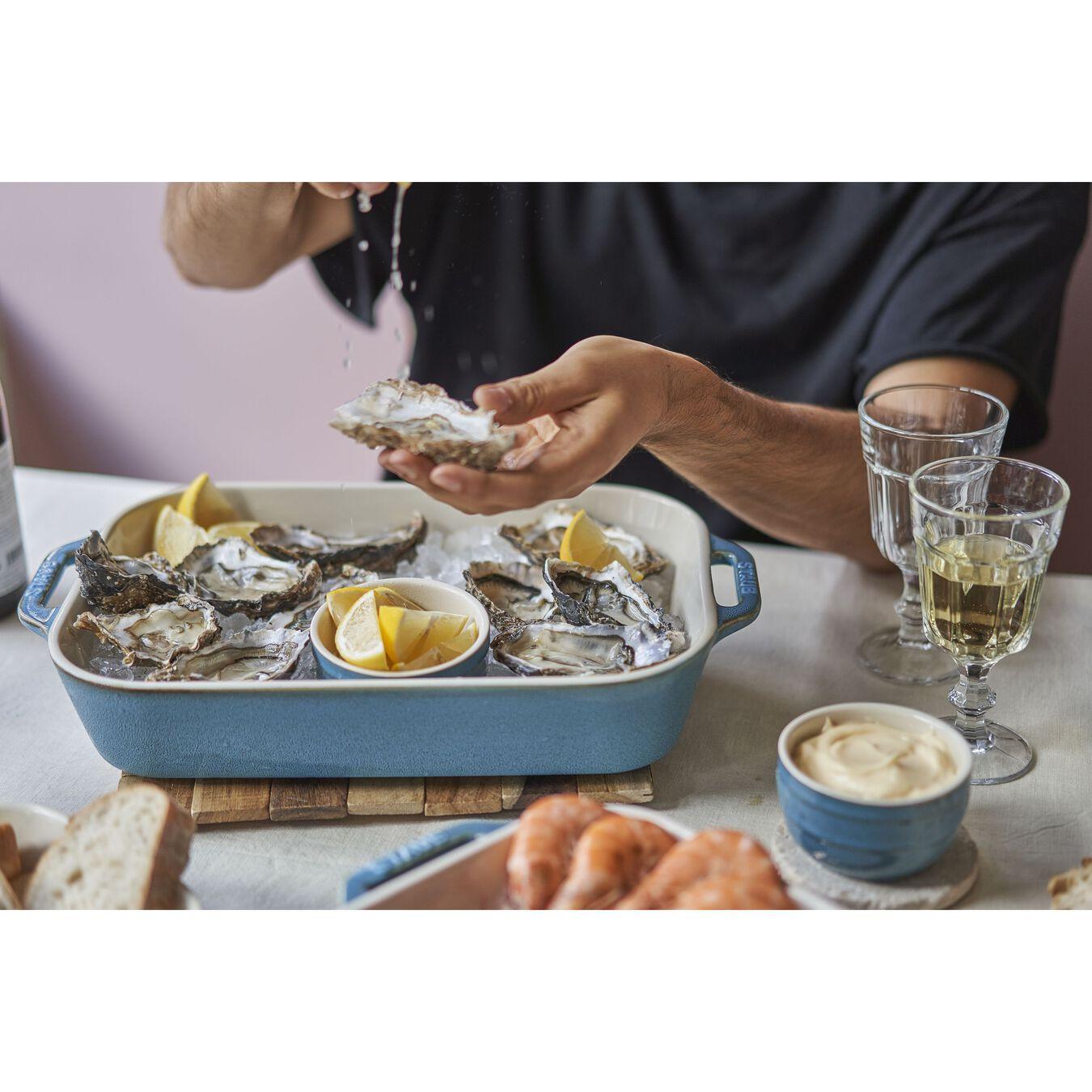 9-x 13-inch, rectangular, Baking Dish, rustic turquoise,,large 2