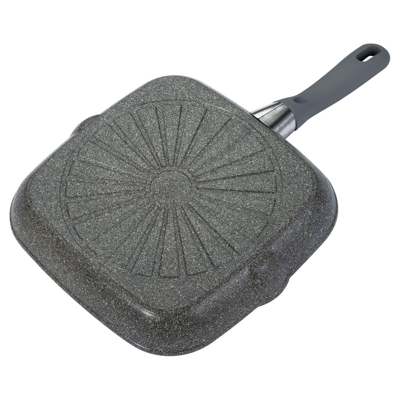 Gril 28 cm, Aluminium, Gris pierre,,large 2