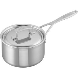 Demeyere Industry, 2 qt Saucepan with Lid, 18/10 Stainless Steel