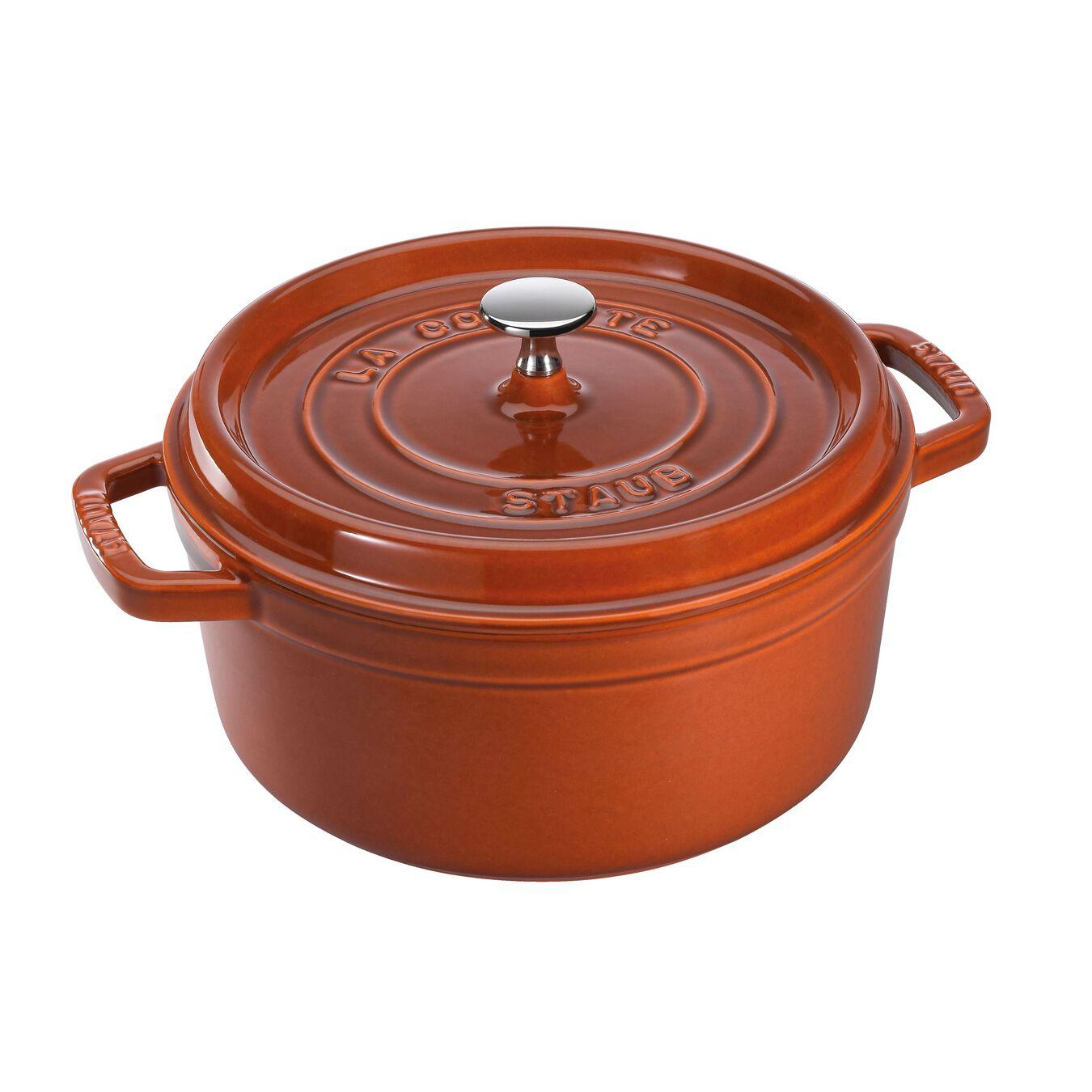 7-qt, round, Cocotte, burnt orange,,large 1