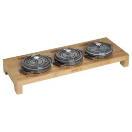 Staub Accessories, 42 cm x 16 cm Bamboo Stand, Bamboo