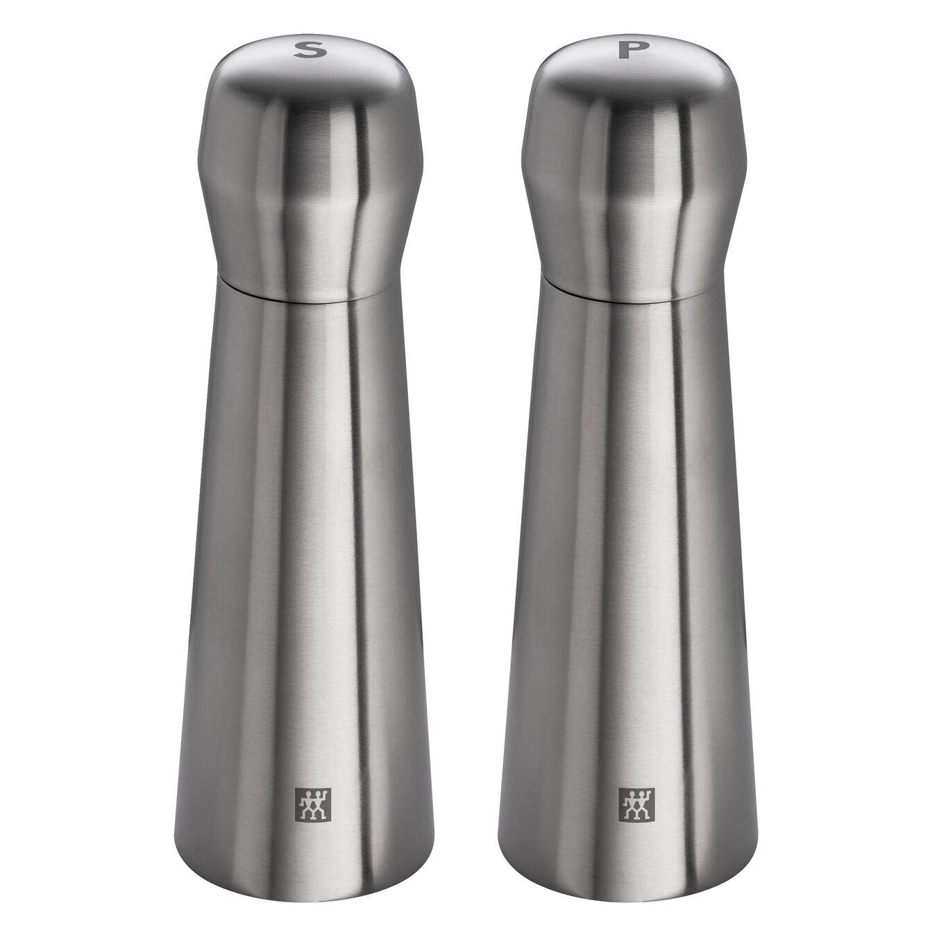 Tuz ve Karabiber Değirmeni, 19 cm | Metalik Gri | Paslanmaz Çelik | Paslanmaz Çelik,,large 1