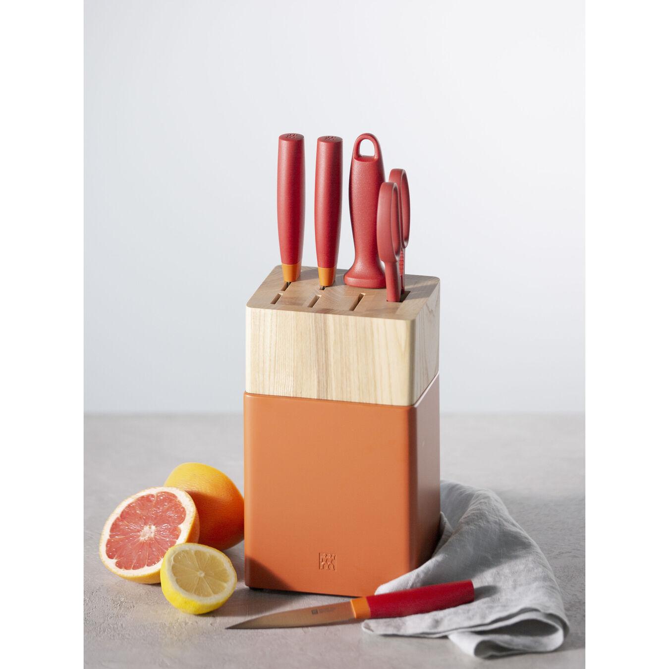 6-pc, Z Now S Knife Block Set, orange,,large 4
