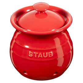 Staub Ceramique, Hvidløgskrukker Kirsebærrød