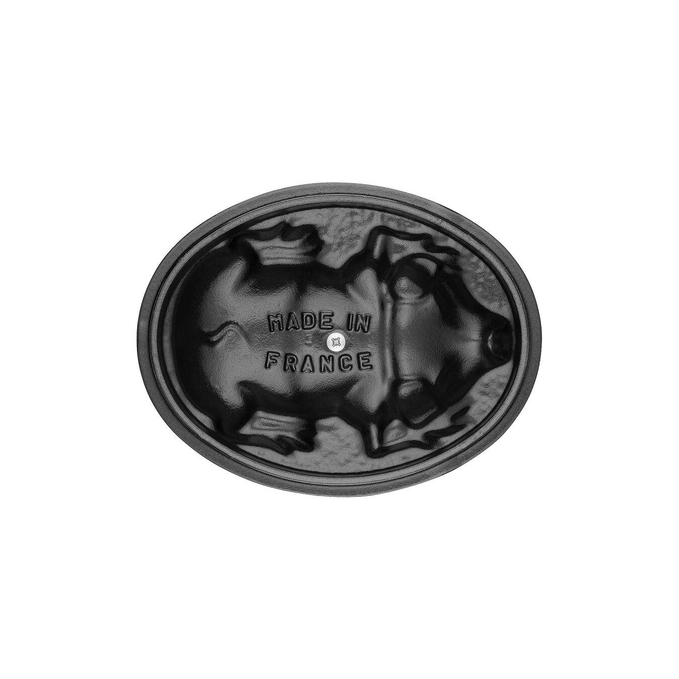 Caçarola 17 cm, oval, Cinza grafite, Ferro fundido,,large 2