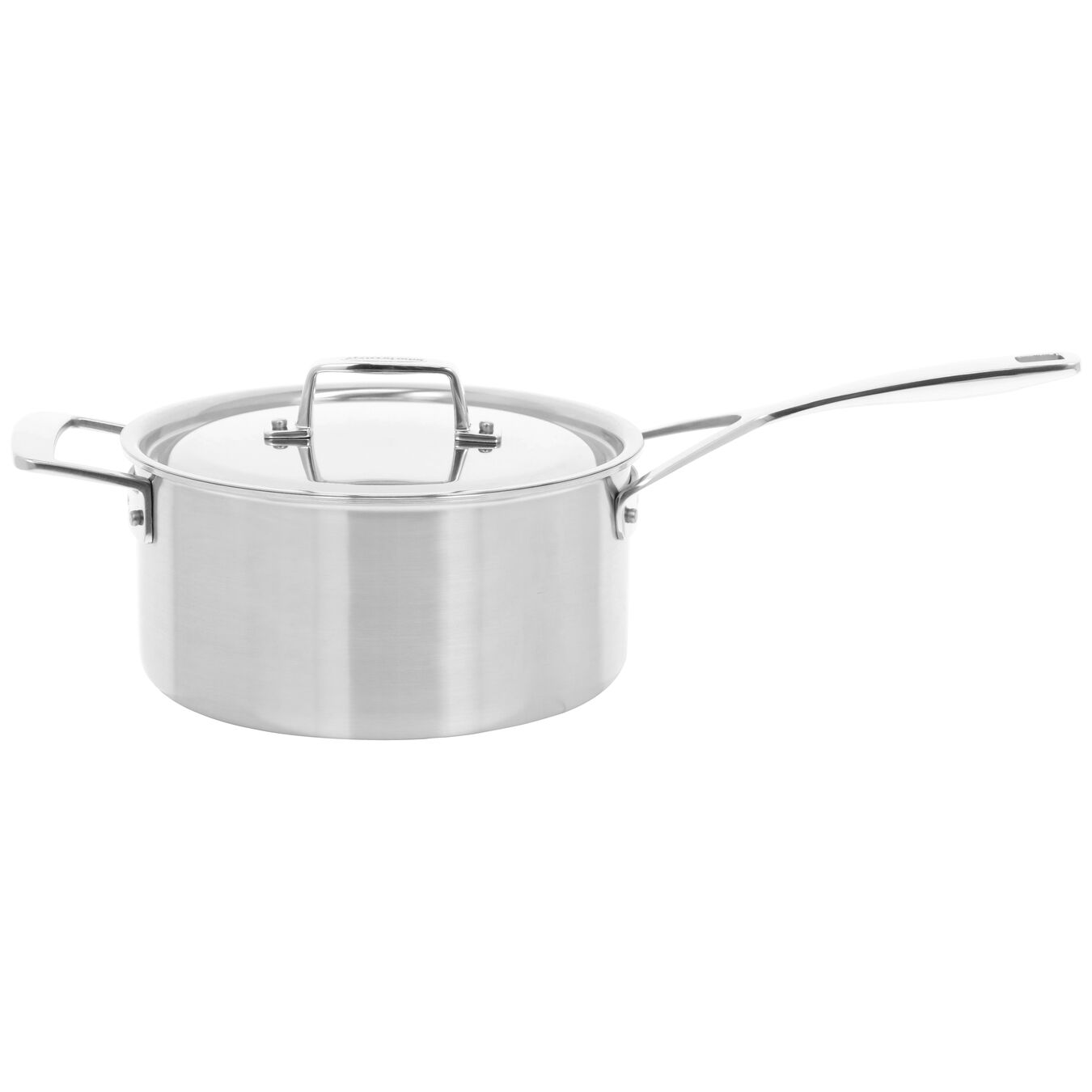 2.8 l round sauce pan with lid 3QT, silver,,large 2