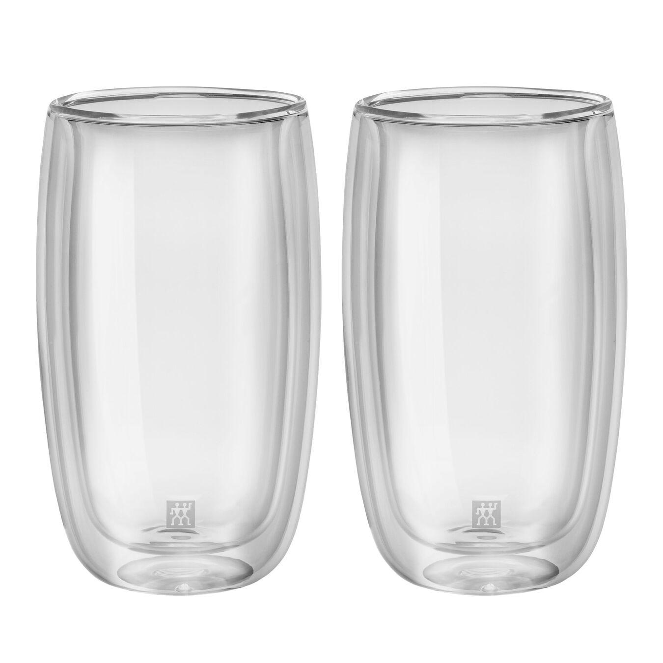 Service de verres à latte macchiato à double paroi, 2-pces,,large 1