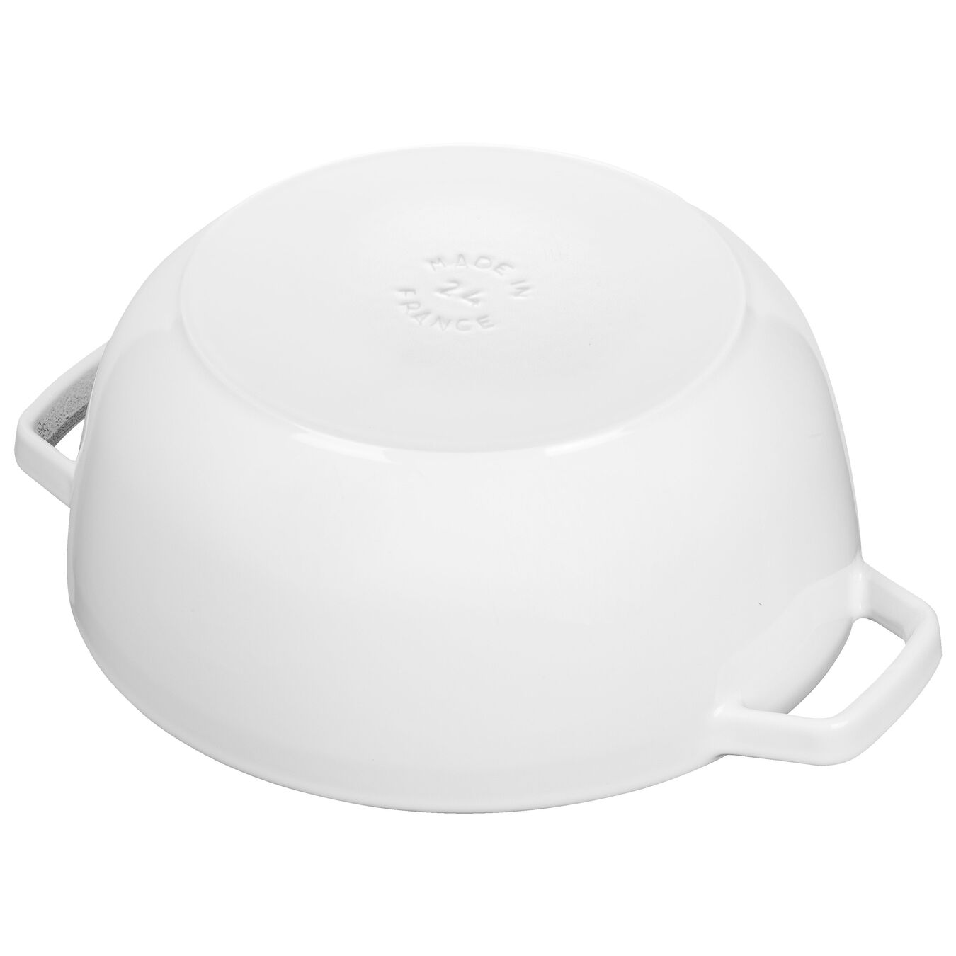 3.75-qt round French oven, White,,large 4