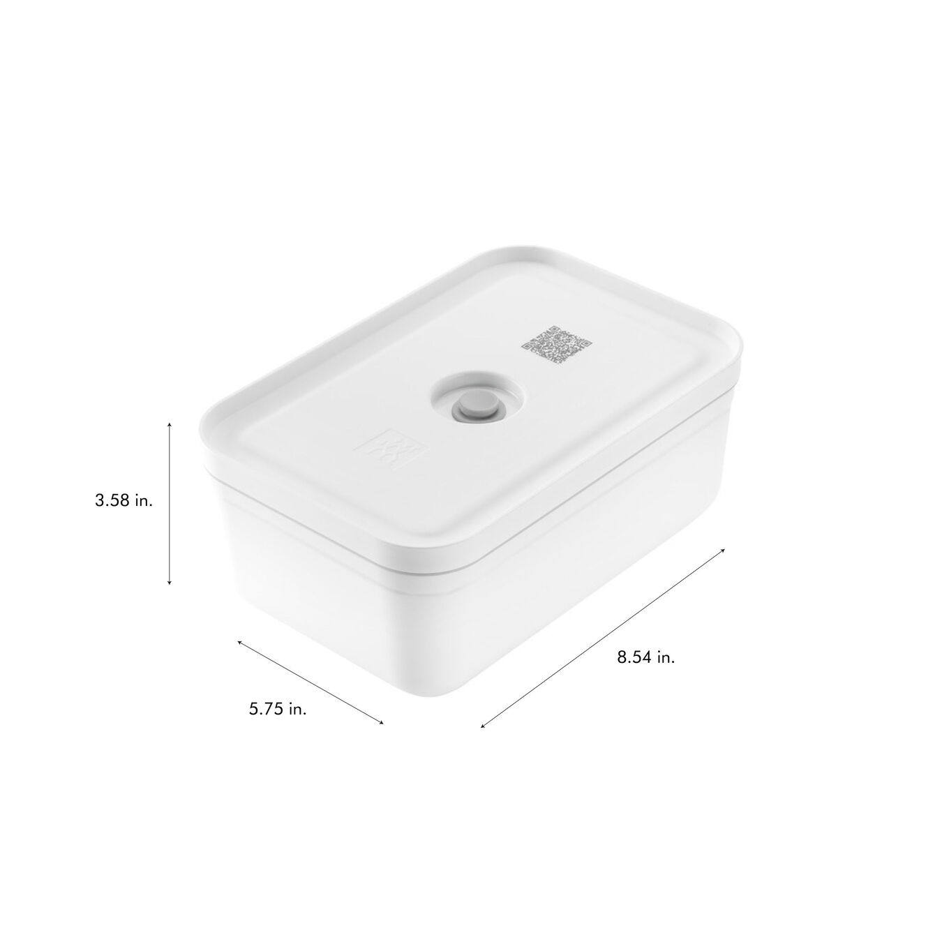 large Vacuum lunch box, Plastic, white,,large 9