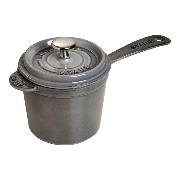 18-cm-/-7-inch Enamel Sauce pan, Graphite-Grey,,large