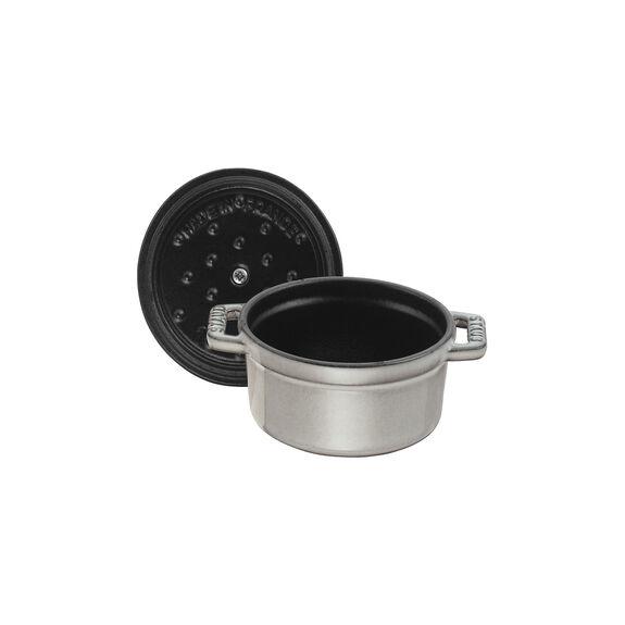0.25-qt Mini Round Cocotte - Graphite Grey,,large 5