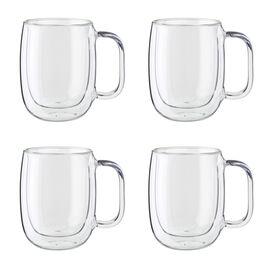 ZWILLING Sorrento Plus, 4-pc Double-Wall Glass Coffee Mug Set