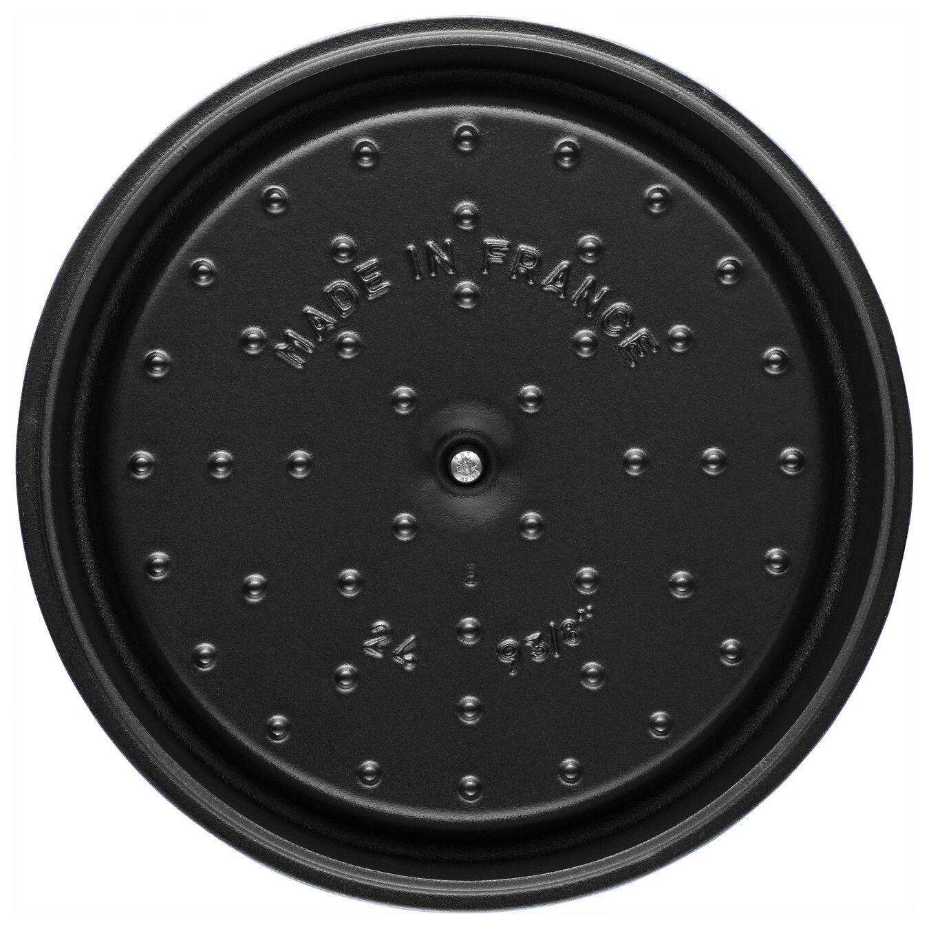 5 qt, round, Cocotte, shiny black,,large 2