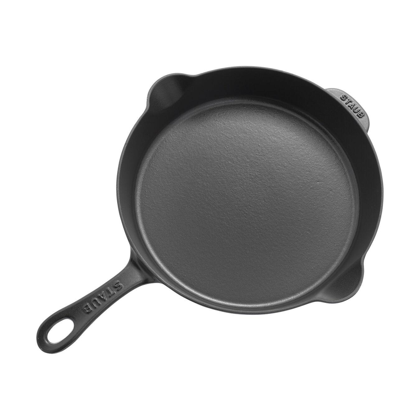 11-inch, Traditional Deep Skillet, black matte,,large 2