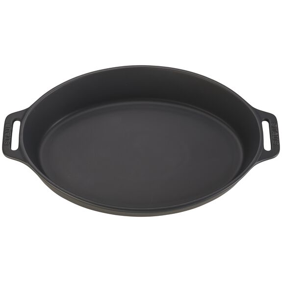 14.5-inch Oval Baking Dish - Matte Black,,large